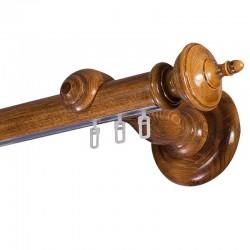 Saly galerie lemn simpla Stejar Auriu sina aluminiu
