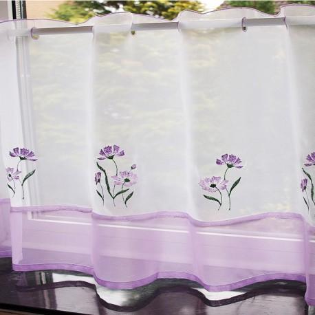 Lilac Vitraj Voal