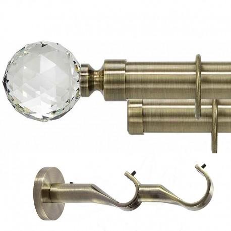 Kula Crystal- set galerie dubla Aur Antic 35 mm