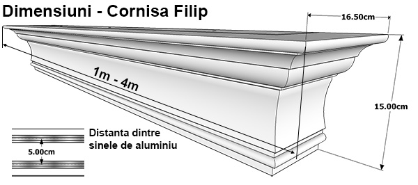 Dimensiuni Cornisa Filip