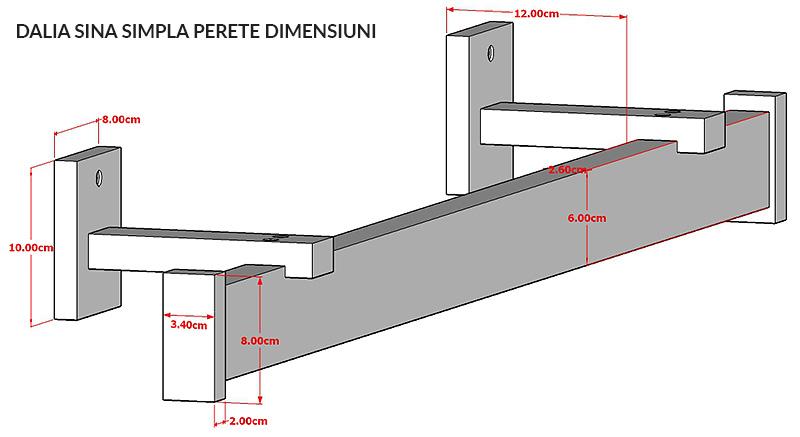 Dalia Sina simpla perete Dimensiuni