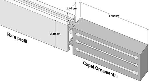 Dimensiuni Capat Ornamental Square Line