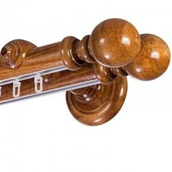 Globo Promo galerie lemn dubla Stejar Auriu sina aluminiu