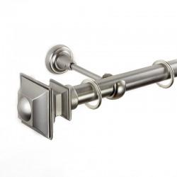 Verdi - set galerie metalica simpla Crom Mat  25 mm