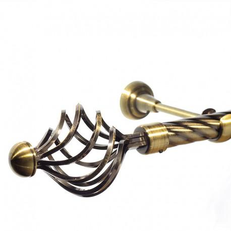 Navona- set galerie simpla , teava Twister, Aur Antic 25 mm