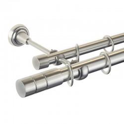 Cylinder - set galerie dubla Crom Mat 25/19 mm
