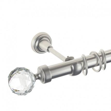 Kula Crystal - set galerie simpla Crom Mat 25 mm