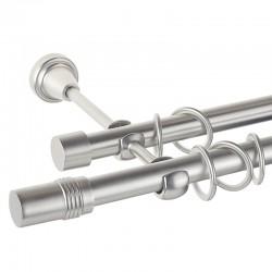 Cylinder- set galerie metalica dubla Crom Mat 19 mm