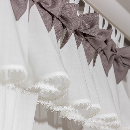 Bows Gray - set complet perdele bucatarie