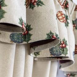 Christmas Lurex Beige - set complet perdele bucatarie