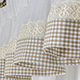 Lace Beige - set complet perdele bucatarie