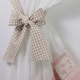Bows Pink - set complet perdele bucatarie
