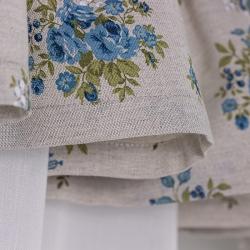 Blue Flowers- set complet perdele bucatarie