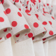 Dots Linen Red Vitrage