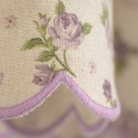 Roses Lila- set complet perdele bucatarie