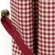 Gingham Red Double Collar - set complet perdele bucatarie