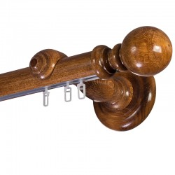 Globo galerie lemn masiv simpla Stejar Auriu sina aluminiu