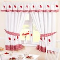 Poppies - set complet perdele bucatarie