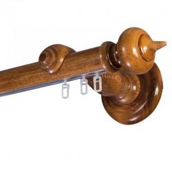 Stella galerie lemn simpla Stejar Auriu sina aluminiu