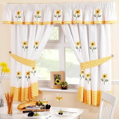 Sunflower - set complet perdele bucatarie