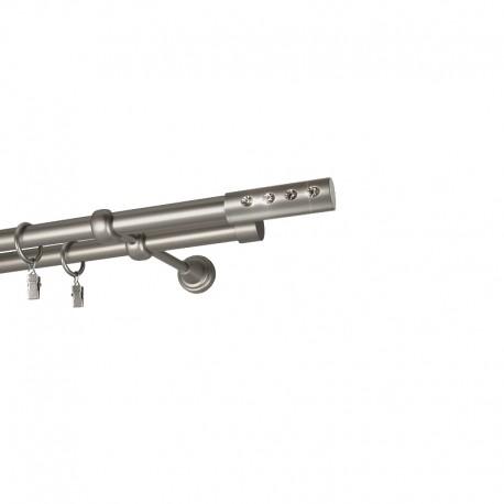 Allure - set galerie dubla Crom Mat 19 mm