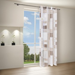 Perdea Voile Louisiana Brown Inele 40282-400