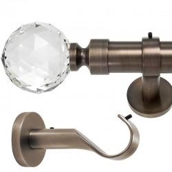 Kula Crystal- set galerie metalica simpla Bronz 35 mm