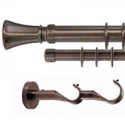 Fanfare - set galerie metalica dubla Bronz 35 mm