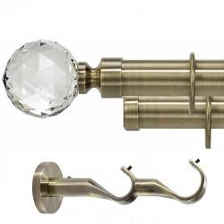 Kula Crystal- set galerie metalica dubla Aur Antic 35 mm