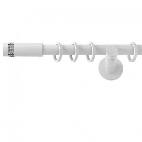 Xantos- set galerie simpla Alb Lucios 19 mm