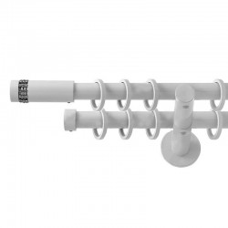 Xantos - set galerie dubla Alb 19 mm