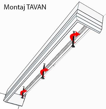 Cornisa Modern Montaj pe Tavan