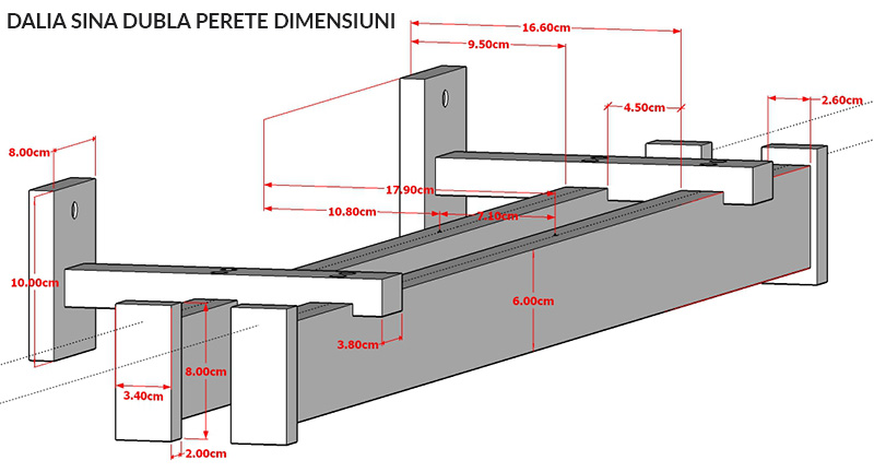 Dimensiuni Dalia Dubla