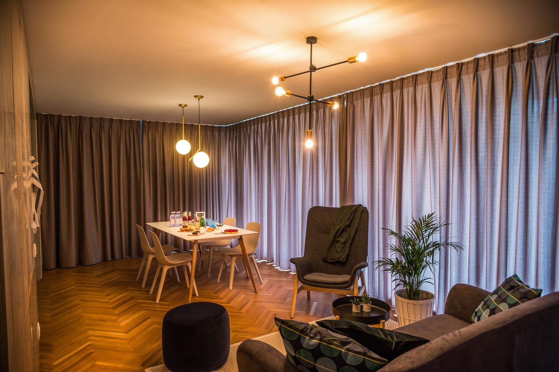 Apartament, Amenajare, Sine & Draperii